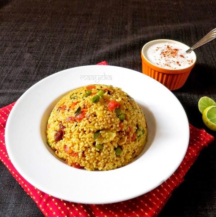 how to make vegetable daliya upma