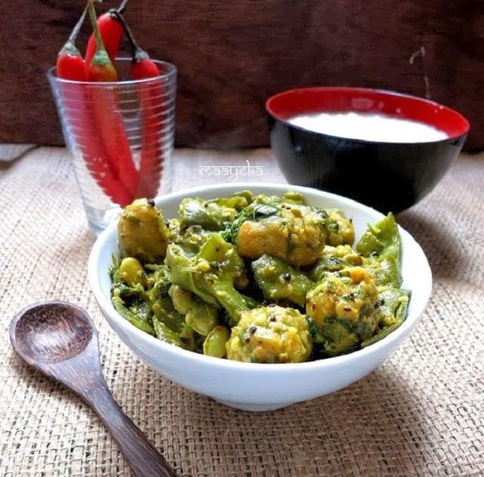 broad beans and fenugreek dumpling curry