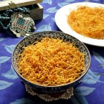 Aloo Bhujiya Sev / Savoury Potato Strings