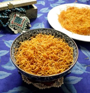 Aloo Bhujiya Sev / Savoury Potato Strings