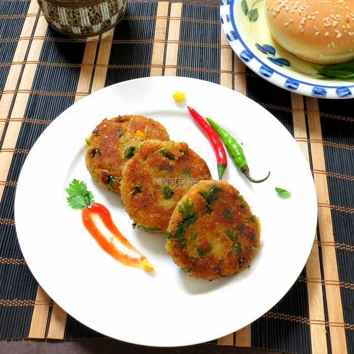 mix vegetable and broken wheat patties