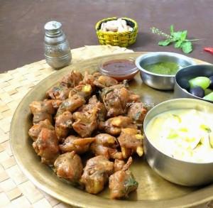 Kuttu Ki Pakodi – Buckwheat flour Fritters