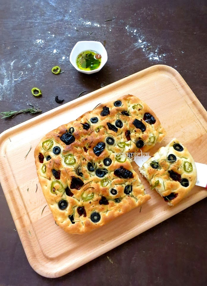 olive rosemary focaccia