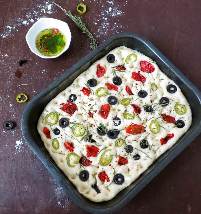 How to make Olive and Rosemary Focaccia » Maayeka