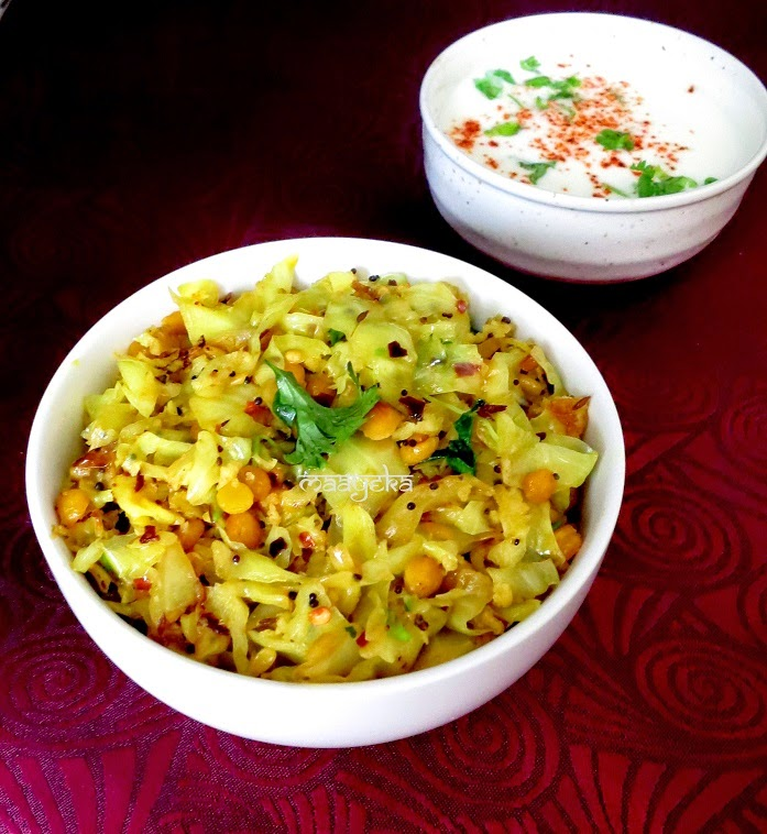 cabbage chana daal sabzi