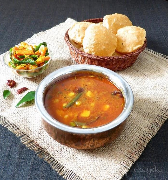 poori bhaji aloo tamatar sabzi