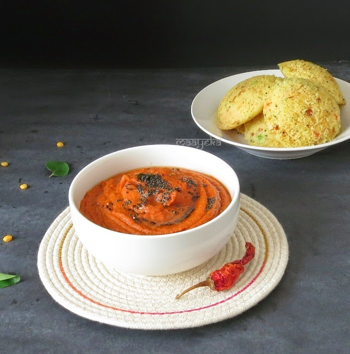 tomato chutney recipe for idli and dosa