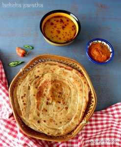 How to Make Lachcha Paratha , Lachchedaar Paratha