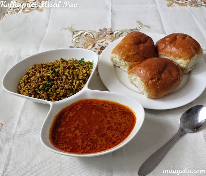 how to make kolhapuri misal pav