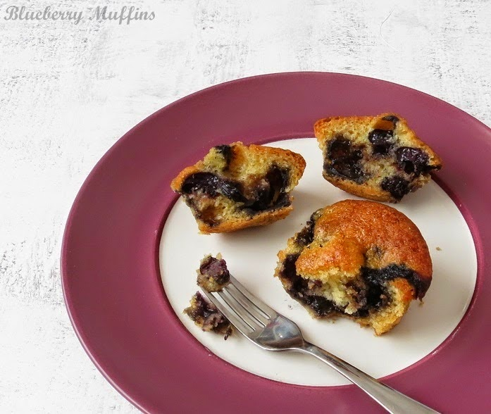 how to make eggless blurberry muffins