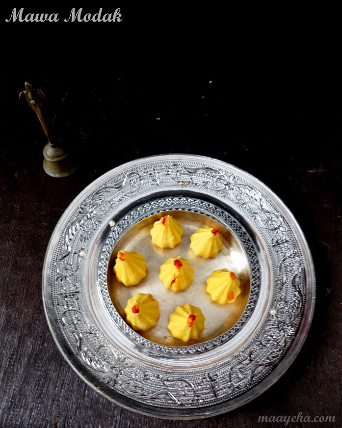 mawa and dry fruit modak for ganpati pooja