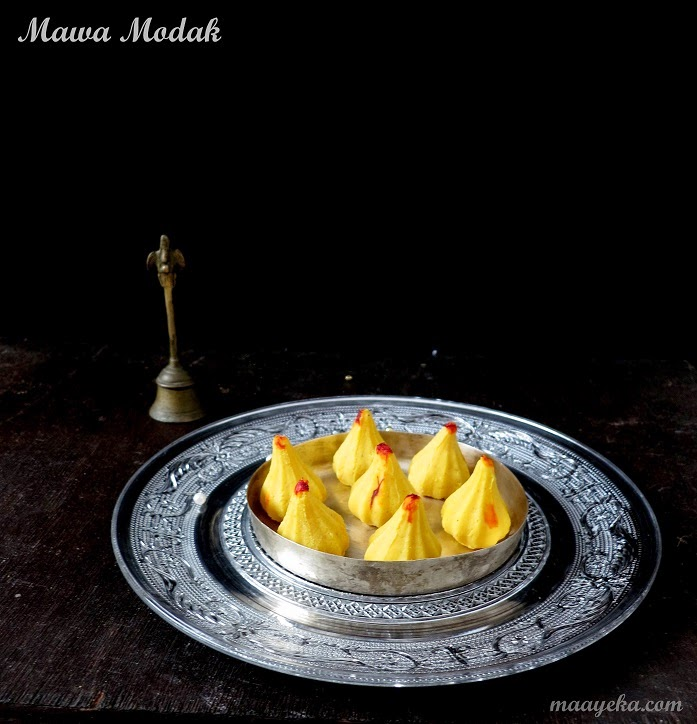 mawa and dry fruit modak for ganpati pooja