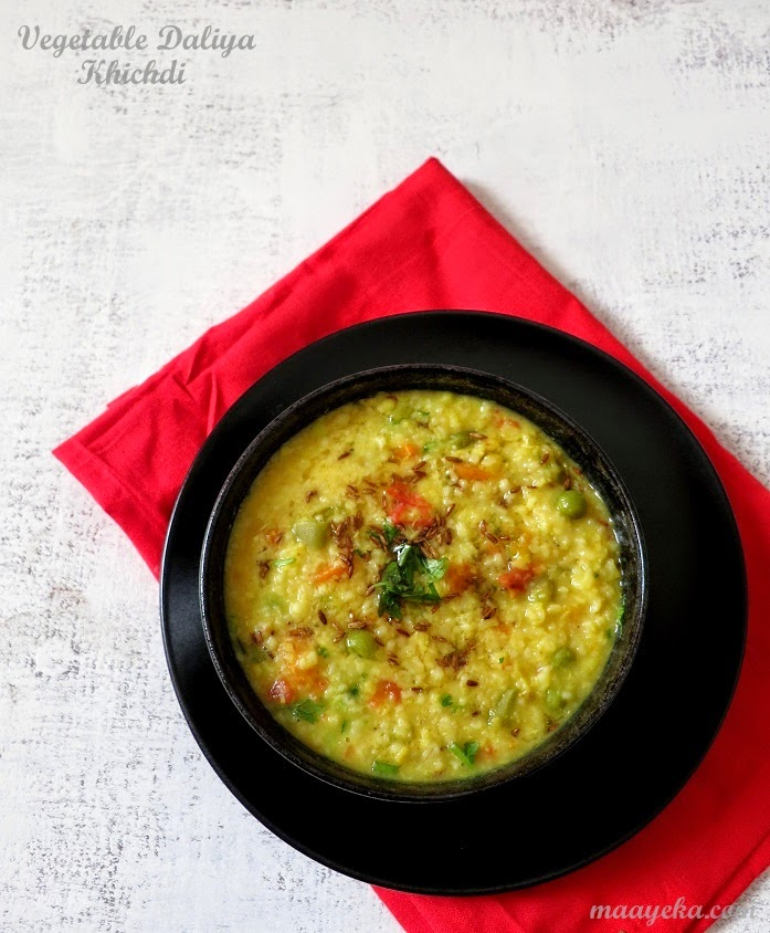 how to make vegetable daal daliya