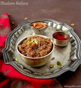 Instant Badam Halwa / Instant Almond Halwa