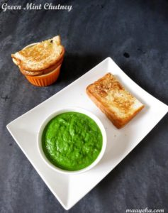 green mint chutney