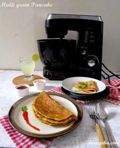Multi Grain Veggie Pancakes | Elekta Stand Mixer Product Review