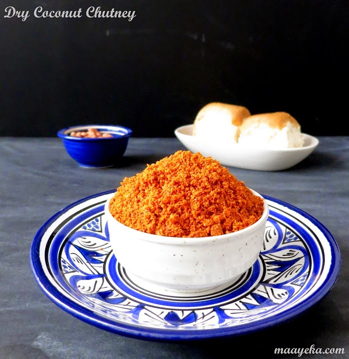 dry coconut chili chutney for vada pav