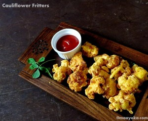 Khasta Gobhi /Crisp Caulflower Fritters