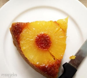 Pineapple Upside Down Cake -Eggless