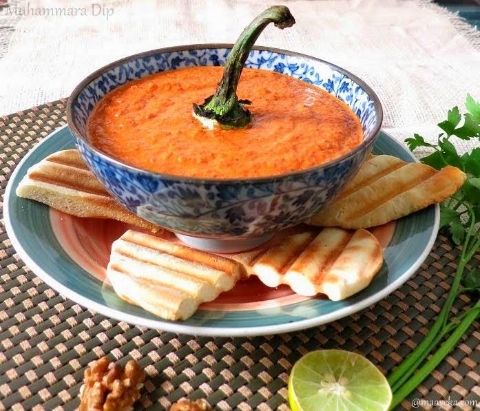 Muhammara / Roasted Bell Pepper and Walnut Dip » Maayeka