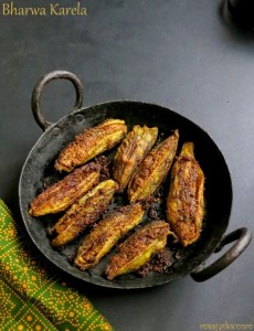 How To Make Bharwa Karela Recipe, Stuffed Karela Recipe