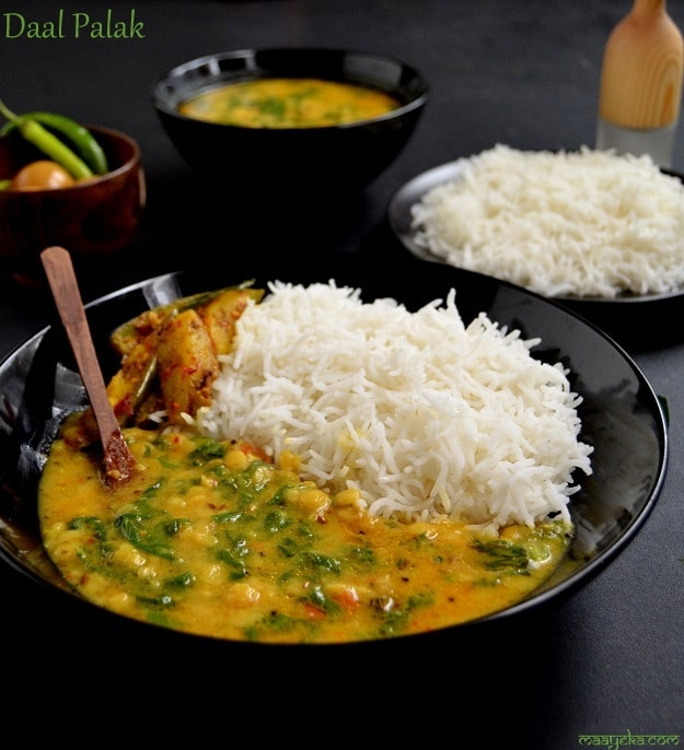 how to make daal palak