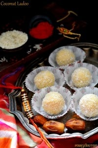 Coconut Ladoo Recipe with Condensed Milk ,Easy Coconut Ladoo