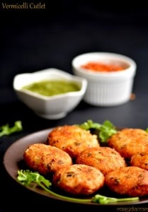 vermicelli and potato tikki