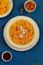Zarda Pulao Recipe,Meethe ChawaI in Pressure Cooker