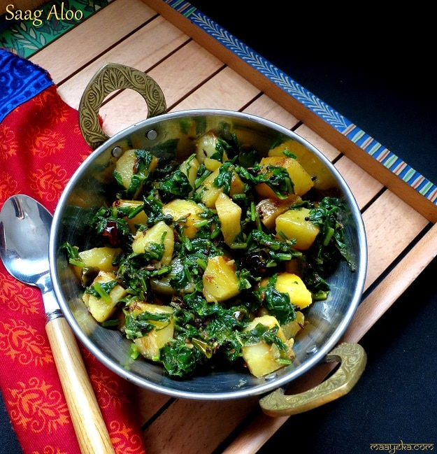 ... spiced potato balls recipes dishmaps spinach saag with spiced potato