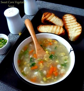 Sweet Corn Vegetable Soup