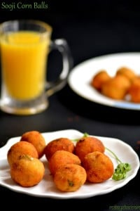 cheesy sooji and corn balls