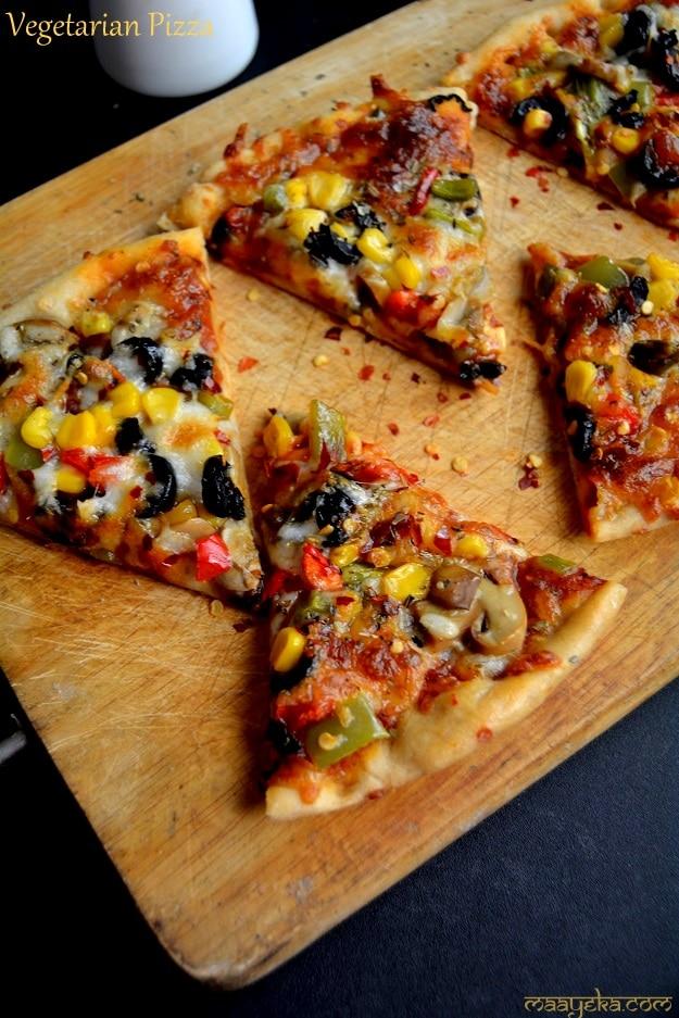 home made veg pizza