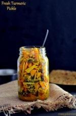 Fresh Turmeric Pickle / Kachchi Haldi Ka Achar