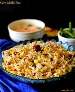 Corn Methi Pulao , Corn Rice Recipe