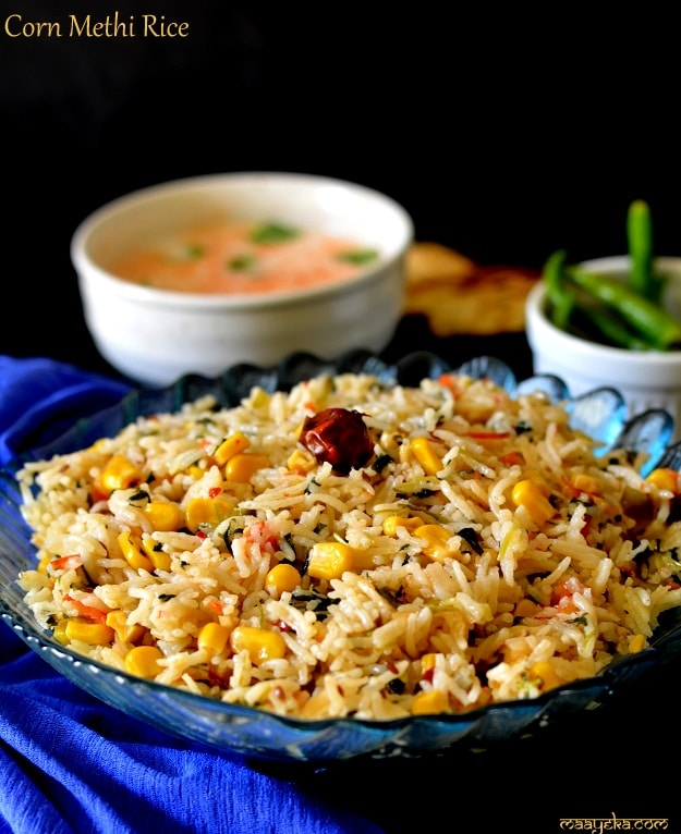 corn methi rice