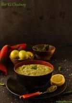 Ber Ki Chutney, Indian plum and Mint dip