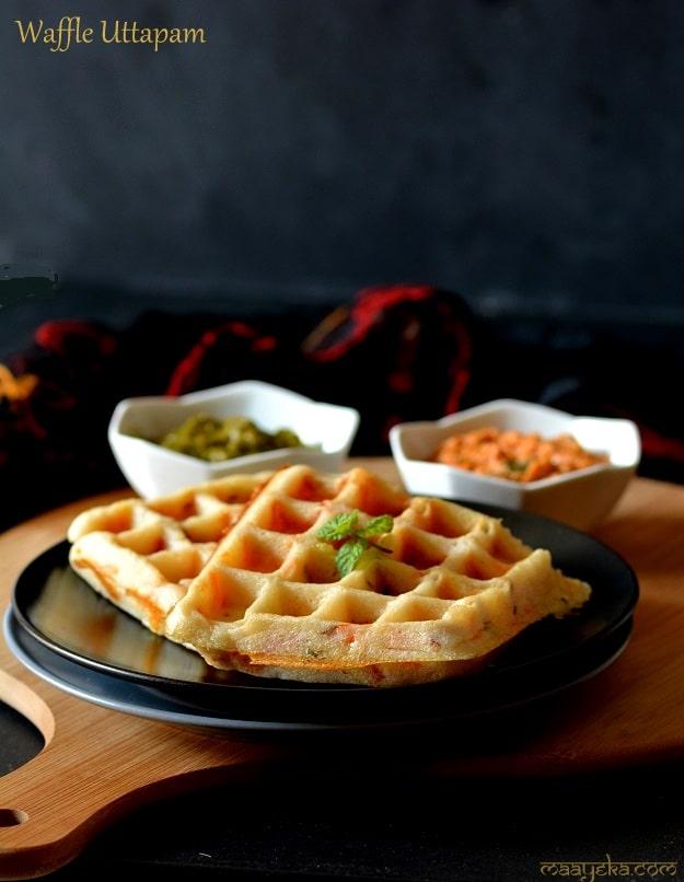 waffle uttapam