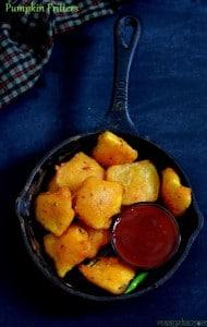 Pumpkin Fritters, Kaddu Pakoda