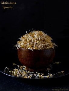 How to make Methi Dana Sprouts, Fenugreek Seed Sprouts