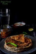 Stuffed Karela Paratha Recipe