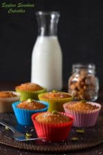 Egg less Semolina Cupcakes Made in Air fryer