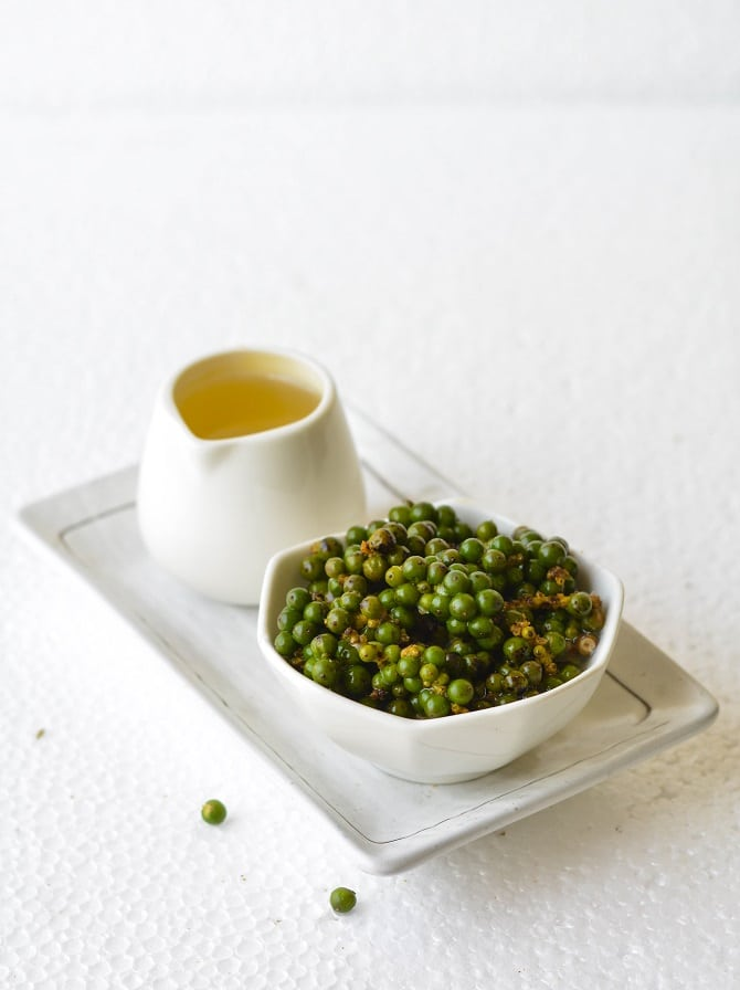 fresh green peppercorns pickle
