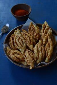 Crispy karela snack, Champakali