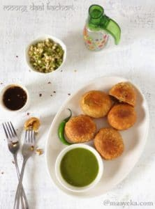 How To Make Moong Sprout Kachori, Moong Daal Kachori