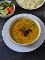 Dosakaya Pappu Recipe, Lentil With Yellow Cucumber