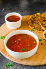 Sweet Tomato Chutney – U.P Style, For Parathas and Snacks +video