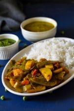 Matar Ke Chilke Aur Aloo Ki Sabzi- a Rustic Recipe