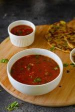 Tamatar ki Meethi Chutney – U.P Style, For Parathas and Snacks