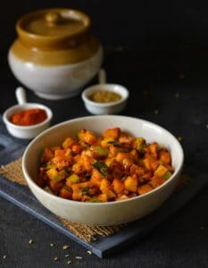 Instant Mango pickle – Kerala style Mango pickle